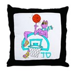sabradogbasketsd2hr Throw Pillow