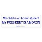 """""""Honor Student"""" Bumper Sticker (10)"""
