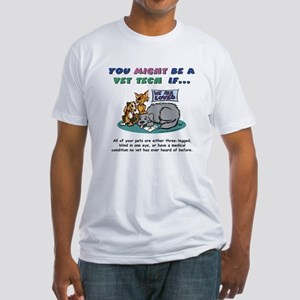 Fitted T-Shirt - You Might Be a Vet Tech