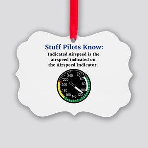 Stuff Pilots Know Indicated Airspeed Novelty Ornam