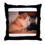 Black Pomeranian (Coal) Throw Pillow
