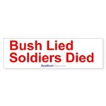 """Bush Lied"" Bumper Sticker (50)"