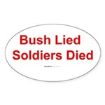 """Bush Lied"" Oval Sticker (10)"
