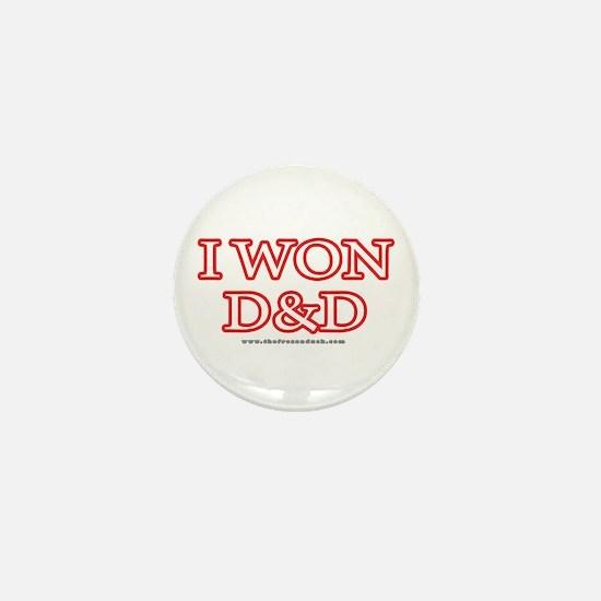 I Won DnD Mini Button