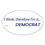 """I Think"" Oval Sticker (10)"