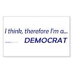 """I Think"" Rect Sticker (10)"