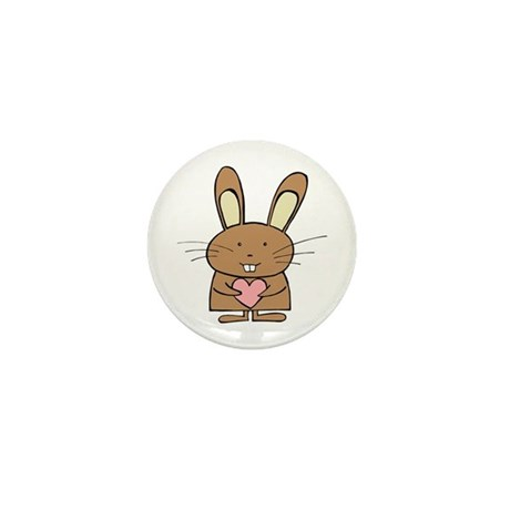 Heart Bunny Mini Button (10 pack)