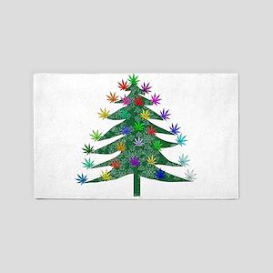 Holiday Marijuana Tree Area Rug