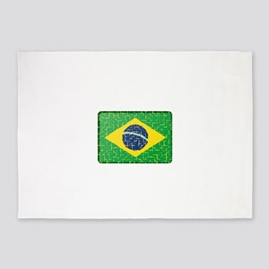 FOR BRAZIL 5'x7'Area Rug
