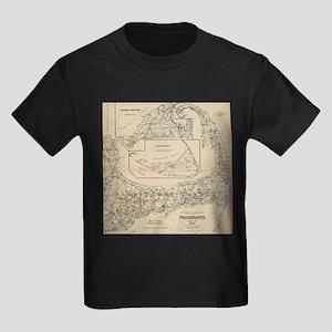 Vintage Cape Cod Cyclist Map (1893) T-Shirt