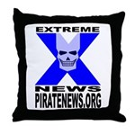 Pirate News Throw Pillow