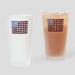 Patriotic beer bottle american flag Drinking Glass