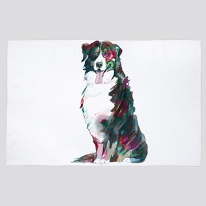 Bernese Mountain dog watercolors illus 4' x 6' Rug