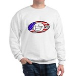 Patriotic Peace Happy Face Sweatshirt