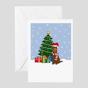 Red Kelpie Season's Best Greeting Card