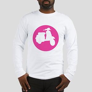 Retro Pink Scooter Dot Long Sleeve T-Shirt