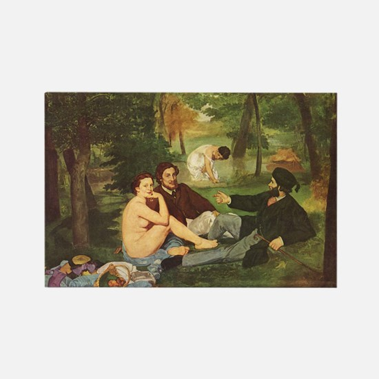 Manet's The Luncheon on the Grass Rectangle Magnet