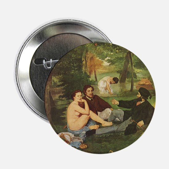 "Manet's The Luncheon on the Grass 2.25"" Button"