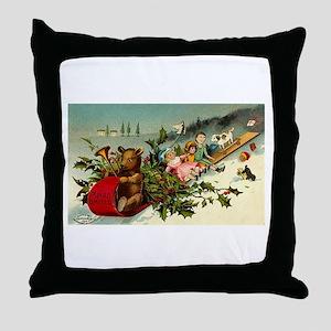 1902 Christmas Throw Pillow