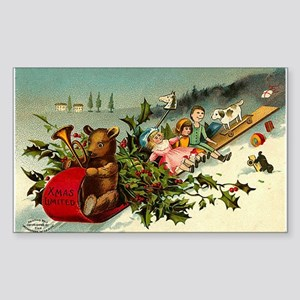 1902 Christmas Rectangle Sticker