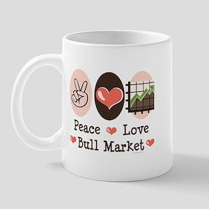 Peace Love Bull Market Mug