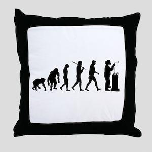 Welding Evolution Throw Pillow