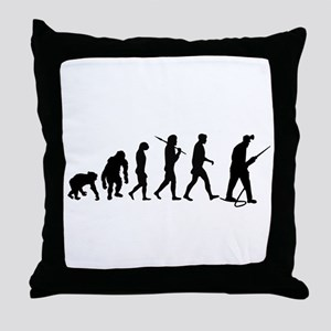 Miners Mining Throw Pillow
