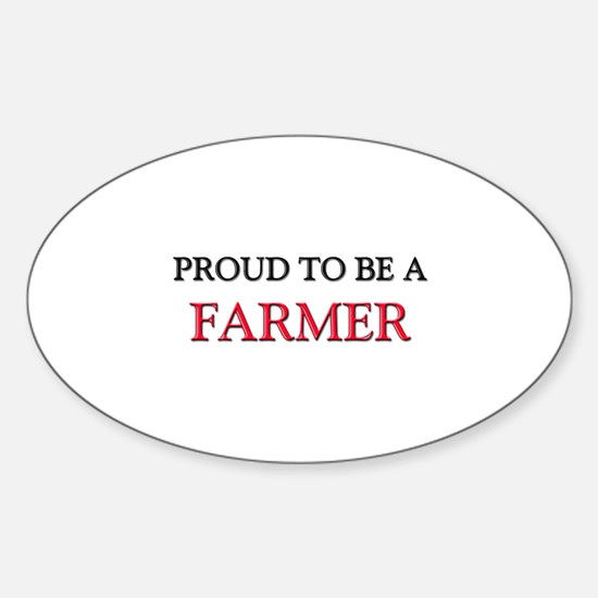 Proud to be a Farmer Oval Decal