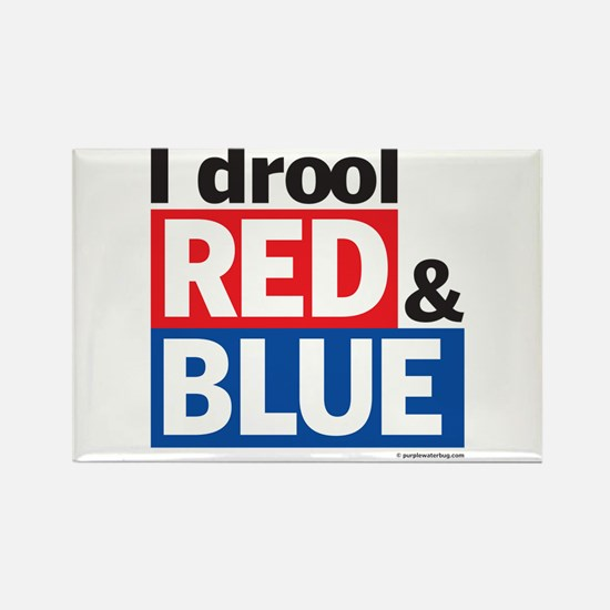 I drool red and blue Rectangle Magnet