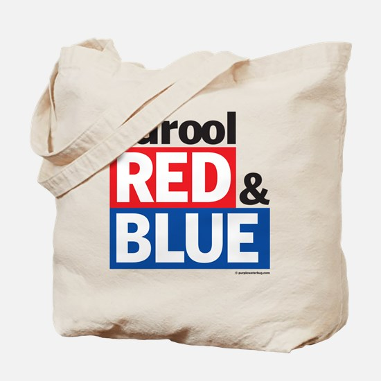I drool red and blue Tote Bag