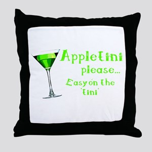 Appletini please... easy on the 'tini' Throw Pillo