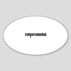 Temperamental Oval Sticker