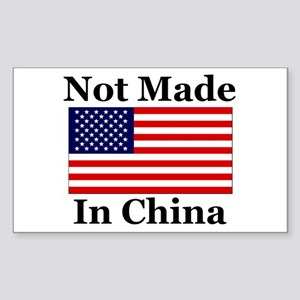 Not Made In China - America Rectangle Sticker