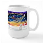 XmasSunrise/Bichon #2 Large Mug