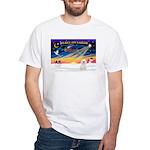 XmasSunrise/Bichon #2 White T-Shirt