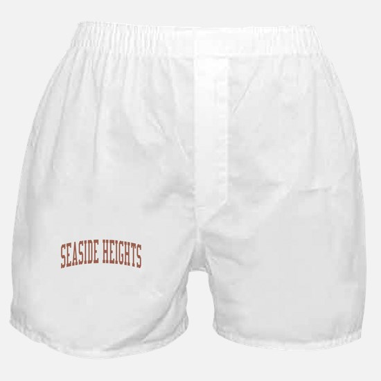 Seaside Heights New Jersey NJ Red Boxer Shorts