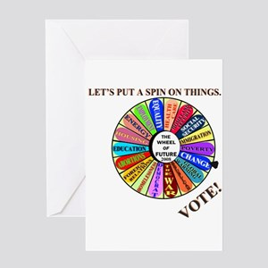 THE WHEEL OF FUTURE Greeting Card