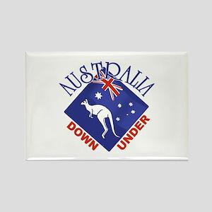 Australia Down Under Rectangle Magnet