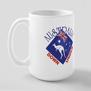Australia Down Under Large Mug