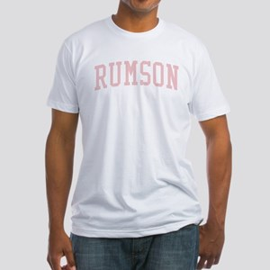 Rumson New Jersey NJ Pink Fitted T-Shirt