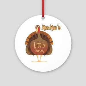 MawMaw's Little Turkey Ornament (Round)