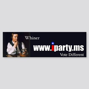 OFFICIAL iParty (Whiner) BUMPER STICKER
