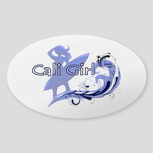 Cali Girl Oval Sticker
