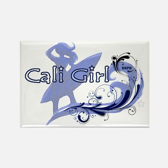 Cali Girl Rectangle Magnet