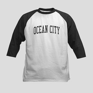 Ocean City New Jersey NJ Black Kids Baseball Jerse