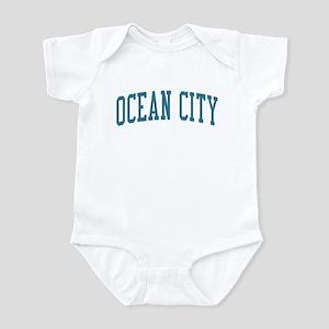 Ocean City New Jersey NJ Blue Infant Bodysuit