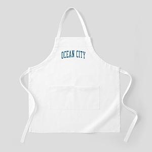 Ocean City New Jersey NJ Blue BBQ Apron