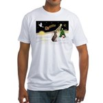 Night Flight/Weimaraner Fitted T-Shirt
