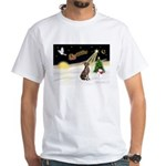 Night Flight/Weimaraner White T-Shirt