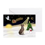 Night Flight/Weimaraner Greeting Card
